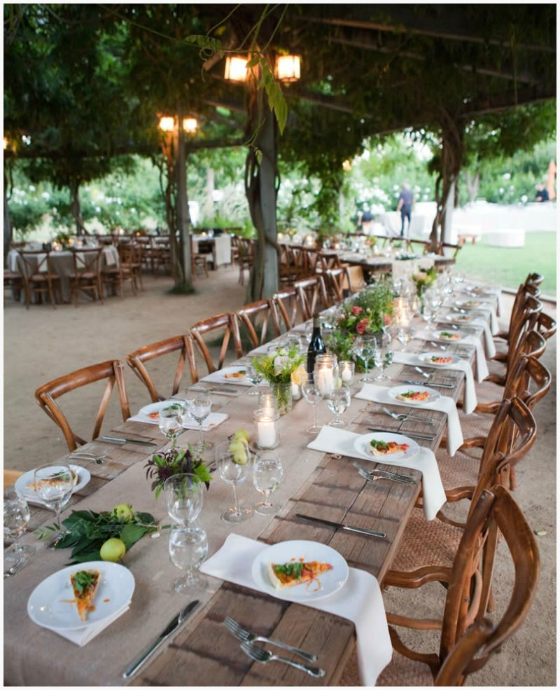 Runner On The Farmhouse Tables Wedding Ideas Pinterest