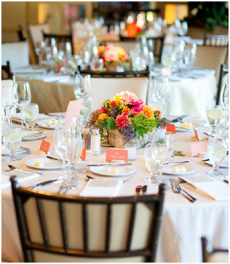 Elegant Table Setting ~ Vibrant Fall Wedding