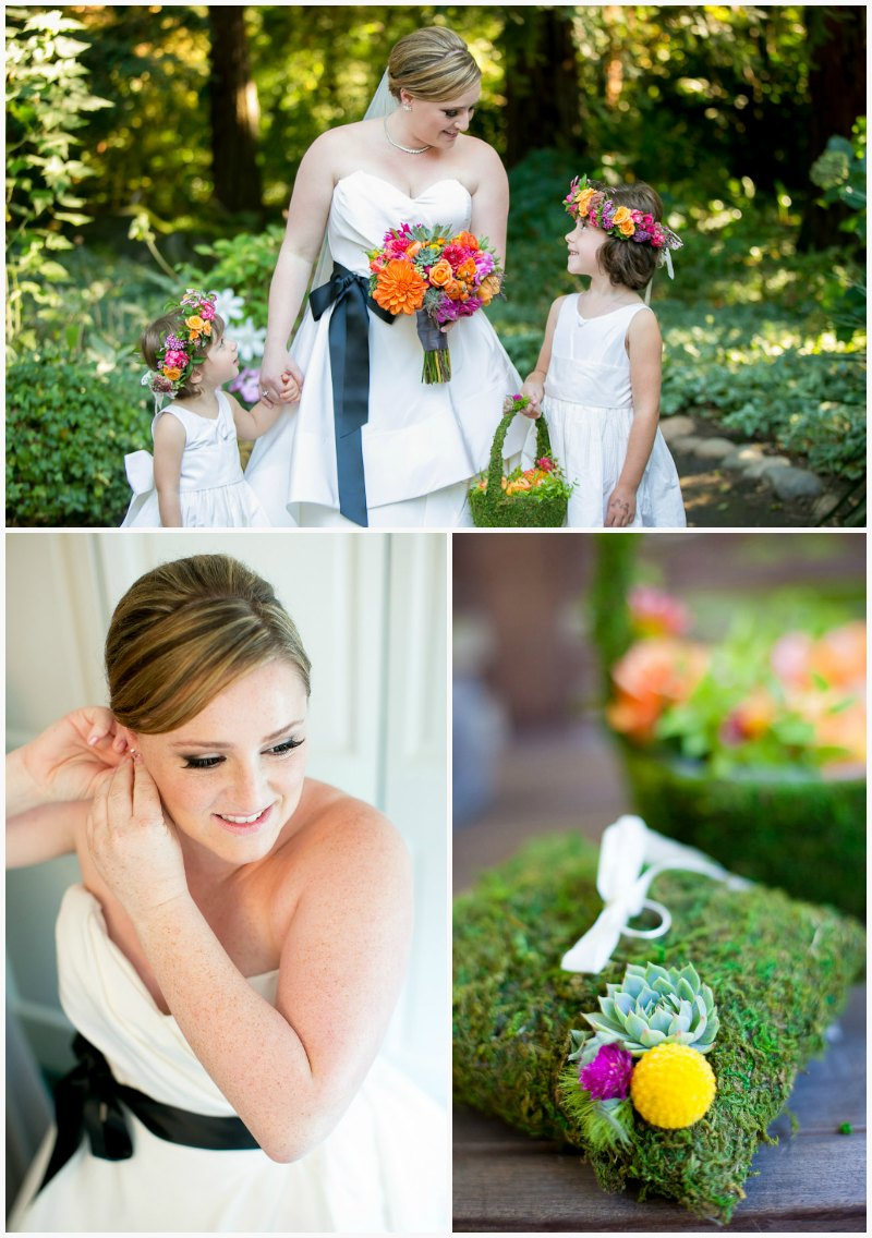 Bride and Flower Girls ~ Vibrant Fall Wedding