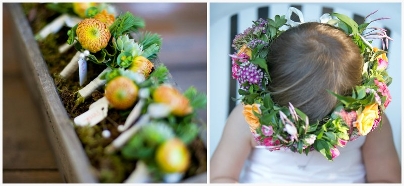 Crown of Flowers ~ Vibrant Fall Wedding