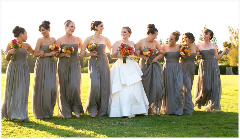 Bridal Party ~ Vibrant Fall, Menlo Circus Club