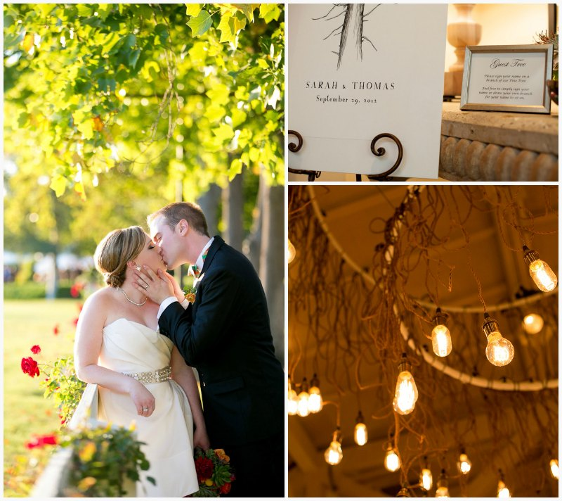 Bride and Groom Kissing ~ Vibrant Fall Wedding