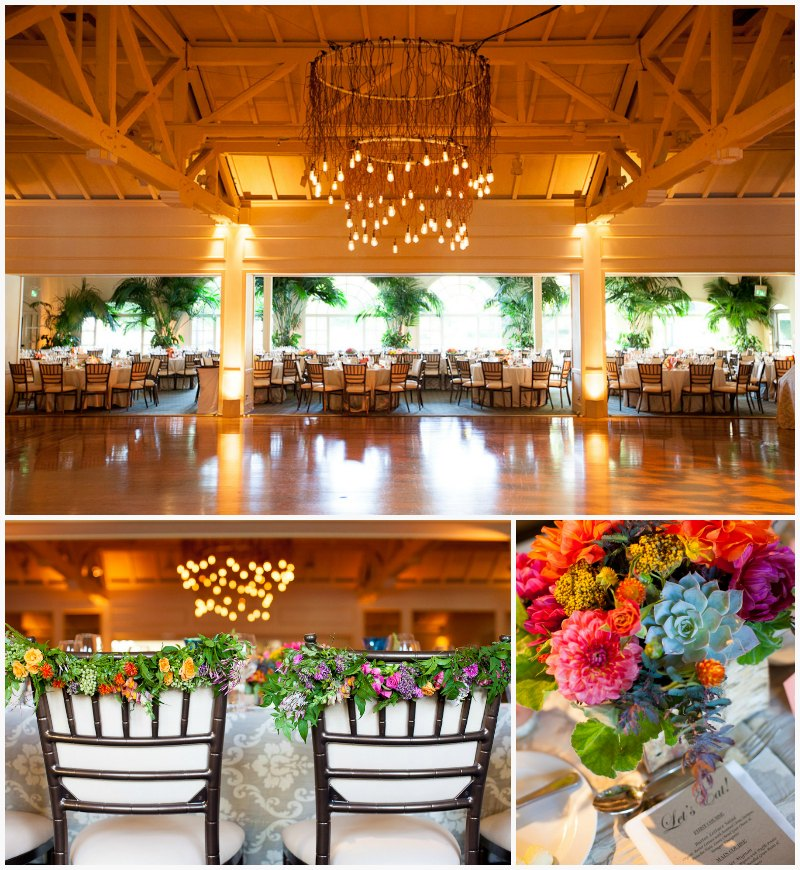 Menlo Circus Club Reception ~ Vibrant Fall Wedding